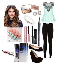 """""""Day out"""" by emmakgreene ❤ liked on Polyvore featuring City Chic, Machi, Giorgio Armani, Barry M, Clinique, Too Faced Cosmetics, Eva NYC, ULTA, Urban Decay and Dorothy Perkins"""