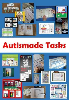 """Autismade Tasks, Cool Classroom"", adapted resources for  Autism, Special needs and Kindergarten students"