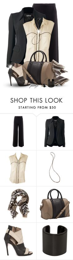 """Strictly Business"" by rockreborn ❤ liked on Polyvore featuring Armani Collezioni, Tom Ford, Chan Luu, Banana Republic, Givenchy, McQ by Alexander McQueen, Ann Demeulemeester and Monique Péan"