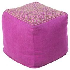 Umbria Pouf in Raspberry
