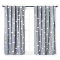 Cloud Print Twill Light Blocking Curtain Panel - Pillowfort™