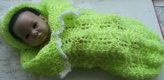 CROCHET Blanket / Shawl /cocoon/hat set for Prem by nannycheryl, $80.00