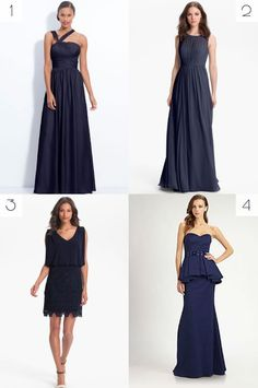 navy blue mother of the bride dresses #mob #wedding #fashion