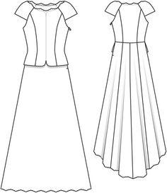 V Back Wedding Dress with Bow 03/2014 #127