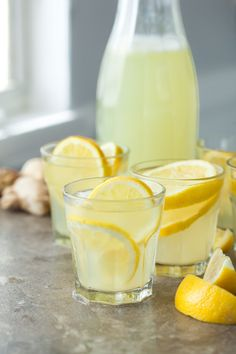Fresh ginger add a unique kick to a warm weather classic in this easy homemade honey ginger lemonade.
