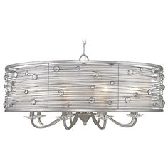 Golden Lighting Joia Peruvian Silver Chandelier | 1993-8 PS | Destination Lighting