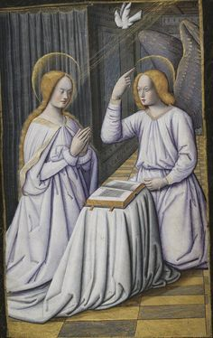 L'Annonciation, Horae ad usum romanum, 1475-1600, BNF ms Latin 1171, 21r