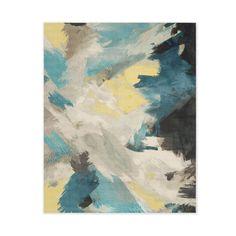 Expressionist Printed Rug - Teal