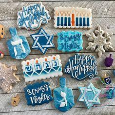 Hanukkah samples! #hanukkahcookies #hanukkah #decoratedsugarcookies #customsugarcookies #instacookies #cookielove #cookieart #cookiesofinstagram #royalicingcookies #huffposttaste #thebakefeed #detroitfoodie #f52grams #holidaycookies #stencibelle #kaleidacuts Hannukah Cookies, Jewish Cookies, Happy Hannukah, Holiday Cookies, Fancy Sugar Cookies, Iced Cookies, Frosted Cookies, Decorated Cookies, Pastries