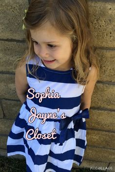 #sophiajaynescloset #navyandwhitestripes #toddlerdress #summerdress