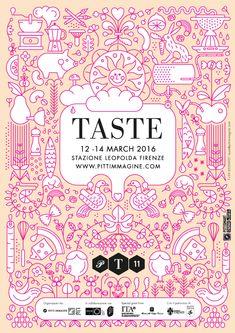 Pitti Taste - Poster designed by Lucia Gaggiotti Illustrations, Graphic Design, Poster, Illustration, Billboard, Visual Communication, Illustrators