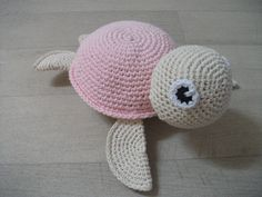 Ness Créative - Doudou tortue, crocheté main, environ 20 cm