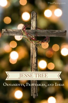 Day by day list of ideas to use with your Jesse Tree. Free printables and more!