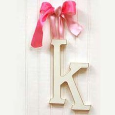 letter k with pink bow