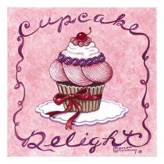 Cupcake Delight Pósters por Janet Kruskamp en AllPosters.com.mx