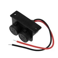 Kkmoon Car Cigarette Lighter Splitter Power Socket Adapter 2 Ports 12V Waterproof