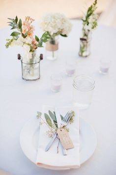 There's really no reason to spend thousands of dollars on wedding flowers! With the help of friends, you can create beautiful DIY wedding arrangements by using seasonal flowers and choosing elegant, yet simple designs that Wedding Decorations On A Budget, Wedding Centerpieces, Table Decorations, Budget Wedding, Simple Wedding On A Budget, Wedding Reception, Arch Wedding, Reception Ideas, Wedding Venues
