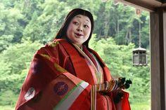 Naomi Watanabe  TV Asahi. She is dressed in junihitoe