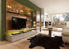 Modern Felino Wall Storage System in Various Colours with Cabinet and TV Unit