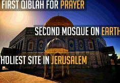 Al-Aqsa. The 3rd holiest mosque in Islam. Palestine forever.