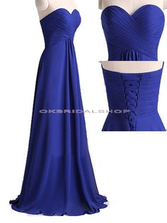 long bridesmaid dresses, royal blue bridesmaid dress, chiffon bridesmaid dress…