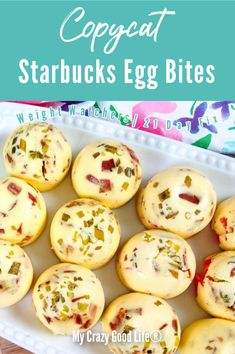 These copycat Starbucks Egg Bites are so easy to make in your Instant Pot! Save money and calories by making these healthy egg bites at home. These taste like Sous Vide Egg Bites, but can be made in the Instant Pot or oven. Egg Recipes, Brunch Recipes, Breakfast Recipes, Cooking Recipes, Breakfast Bites, Starbucks Egg Bites, Healthy Starbucks, Starbucks Recipes, Egg Bites Recipe
