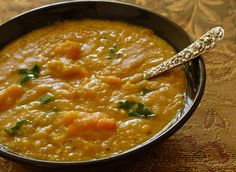 Yellow Split-Pea Soup with Sweet Potatoes and Kale
