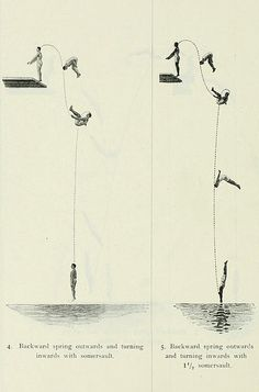 olympic diving diagrams from 1912