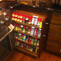 My aunt's spice cabinet! SO amazing!