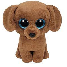 Beanie Boos Dougie the Dachshund Dog Beanie Boo Ty Beanie Boos, Beanie Boo Dogs, Beanie Babies, Brown Dachshund, Brown Dog, Dachshund Dog, Ty Stuffed Animals, Plush Animals, Stuffed Toys