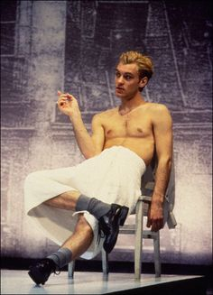 Jude Law in the Broadway play Indiscretions in 1995.
