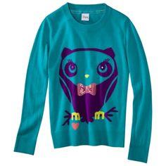 Circo® Girls Long-Sleeve Pullover -  Milan Aqua