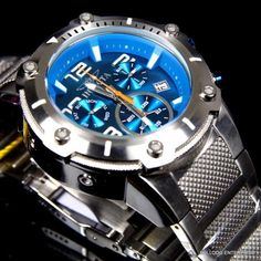 Invicta Speedway XL Teal Blue Stainless Steel Chronograph Swiss Parts Watch New | Jewelry & Watches, Watches, Parts & Accessories, Wristwatches | eBay!