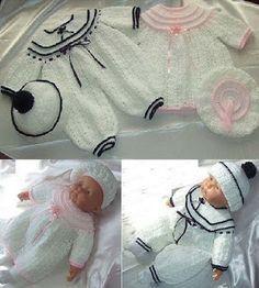 Mary Helen artesanatos croche e trico: Macaquinhos para bebe Croche