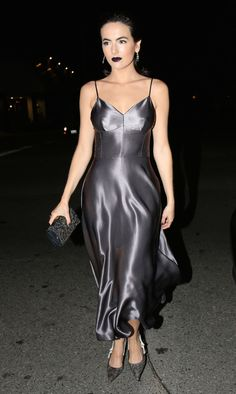 Camilla Belle in Dior at the Dior Addict Lacquer Pump Launch Party Satin Gown, Satin Dresses, Silk Satin, Silk Dress, Sexy Dresses, Dress Skirt, Beautiful Dresses, Fernando Verdasco, Silk Evening Gown