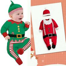 Infants baby Christmas clothing 3 Pieces Set With Hat Toddler Outfits Romper Suit Overalls Clothes 0-24M UK Sets Hot Sell(China (Mainland))