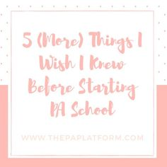 """101 Likes, 8 Comments - Savanna Perry, PA-C (@thepaplatform) on Instagram: """"New post on the blog today! Link in profile. 5 (More) Things I Wish I Knew Before Starting PA…"""""""
