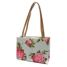 Pre-Owned Kate Spade Light Blue Floral Print Canvas Shoulder Bag ($50) ❤ liked on Polyvore featuring bags, handbags, shoulder bags, multicolor, handbags & purses, kate spade shoulder bag, man bag, floral purse and hand bags