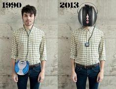 La evolución de los cascos con los que oímos música... ¡Ay!