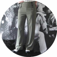1940's High Waist Trousers