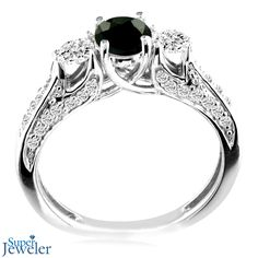 Black Diamond Engagement Rings! Classically Different.