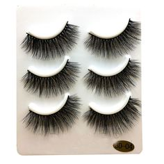 Kemilove 3 Pairs Long False Eyelashes Makeup Natural Fake Thick Black Eye Lashes (D). ♥ 3 Pair False Eyelashes Lashes Full Makeup. ♥ Fascinating eyelashes and best for party. ♥ Soft backbone makes these lashes extremely comfortable and easy to apply. ♥ Able to use many times if care is taken when applying and removing. ♥ Compatible with any mascara cream.