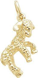 $23.50 Please note that product images are enlarged to show detail. The actual item is 0.664 - (approx. 5/8 in.) inches long and 0.446 - (approx. 1/2 in.) inches wide. The Lamb Charm, Gold Plated Silver is hand-polished with a High Polish finish. The charm shape is 3D - Solid. Every Rembrandt charm comes with a heavy-duty jump ring that can be twisted open and easily attached by you. All Rembrandt Charms are guaranteed for life.