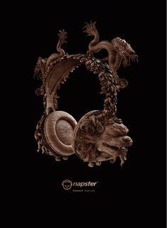 NAPSTER • HANDMADE PLAYLIST CD AD on Behance