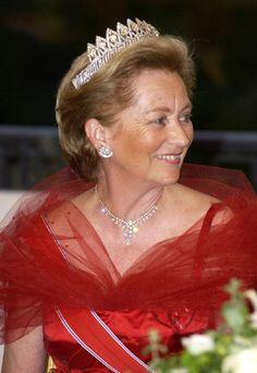 Queen  Paola Ruffo di Calabria (1937-living2013) of Italy, wife of King Albert II (1934-living2013) of Belgium. She is the 7th child of the WW I Italian flying ace Fulco, Prince Ruffo di Calabria 6th Duke of Guardia Lombarda (1884–1946) & Luisa Gazelli dei Conti di Rossana e di Sebastiano (1896–1989).