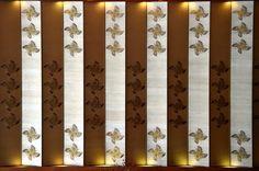 Hotel OKURA. Tokyo. Japan | 人間国宝の富本憲吉氏デザインの四弁花紋様をびょうぶ状に仕立てた壁画