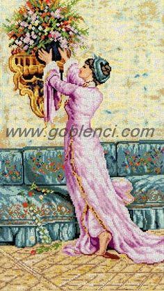 Baskılı goblen, Osman Hamdi tabloları #goblen #etamin #kanavice #goblenci
