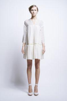 Luna Dress Voile Check - Karen Walker