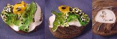 Super Wounaan Tagua Frog Carving-Panama #12096