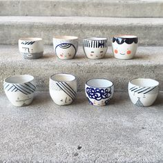 Handmade Pottery — Pawena Studio @pawenastudio.com Face cups